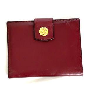 Bosca Burgundy Leather Wallet/Passport Holder